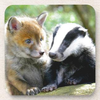 Foxcub & Badger Cute! Beverage Coasters