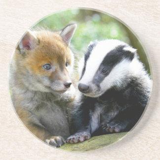Foxcub & Badger Cute! Coaster