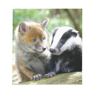 Foxcub & Badger Cute! Memo Pads