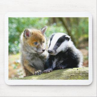 Foxcub & Badger Cute! Mouse Pad