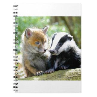 Foxcub & Badger Cute! Spiral Note Books