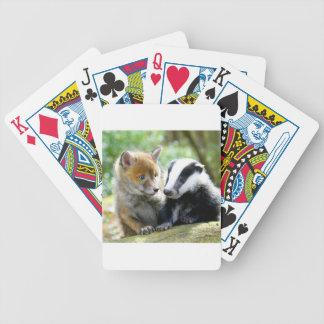 ¡Foxcub y tejón lindos! Barajas De Cartas