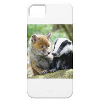 ¡Foxcub y tejón lindos! iPhone 5 Case-Mate Fundas