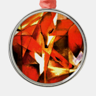 Foxes by Franz Marc Fine Art Metal Ornament