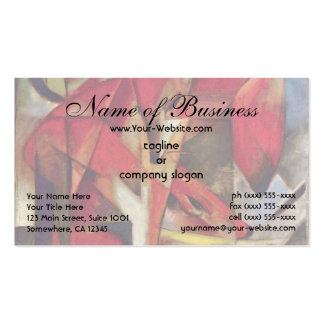 Foxes by Franz Marc, Füchse, Vintage Expressionism Double-Sided Standard Business Cards (Pack Of 100)