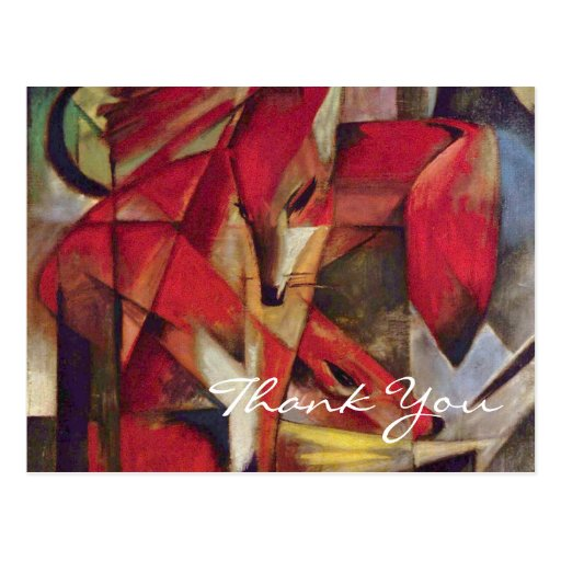 Foxes by Franz Marc Postcard