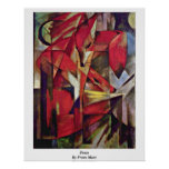 Foxes By Franz Marc Print