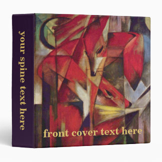 Foxes by Franz Marc, Vintage Abstract Cubism Art Binder