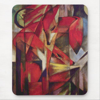 Foxes by Franz Marc, Vintage Abstract Cubism Art Mouse Pad