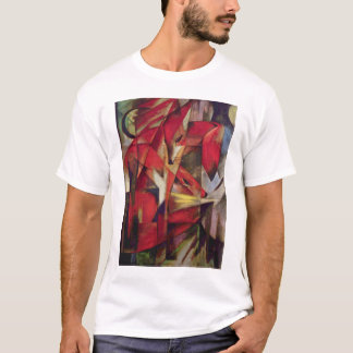 Foxes by Franz Marc, Vintage Abstract Cubism Art T-Shirt