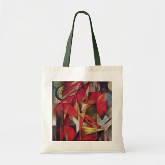 Foxes by Franz Marc, Vintage Abstract Cubism Art Tote Bag