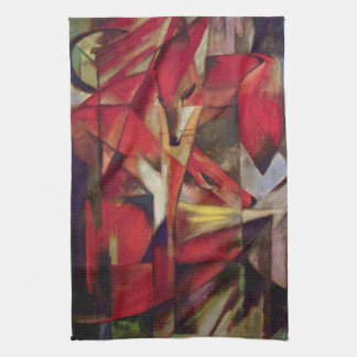 Foxes by Franz Marc, Vintage Abstract Cubism Art Towel
