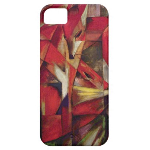 Foxes by Franz Marc, Vintage Abstract Cubism iPhone 5 Cases