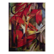 Foxes by Franz Marc, Vintage Abstract Cubism Posters