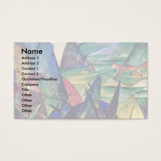 Foxes By Marc Franz Business Card