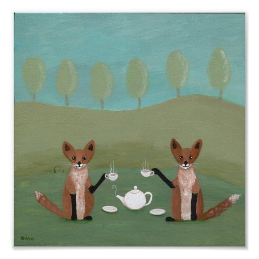 Foxes for Tea Poster