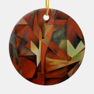 """""""Foxes"""" -  Homage to Franz Marc (1913) Ceramic Ornament"""
