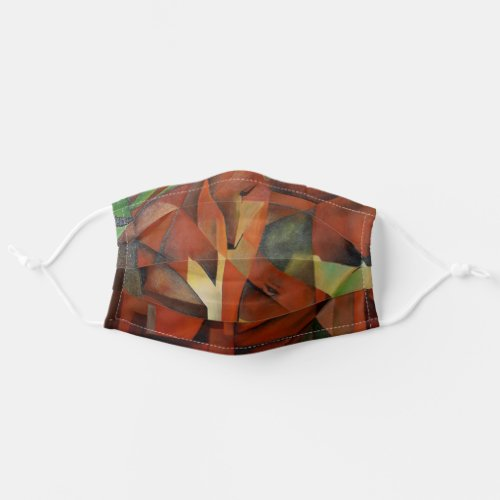 Foxes _ Homage to Franz Marc 1913 Cloth Face Mask