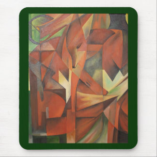 """""""Foxes"""" -  Homage to Franz Marc (1913) Mouse Pad"""