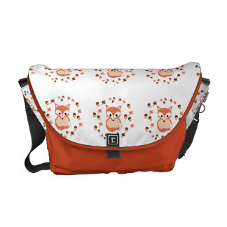 Foxes in autumn courier bag