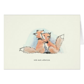 Foxes in Love: With Much Affection Cards