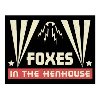 Foxes in the Henhouse Postcard