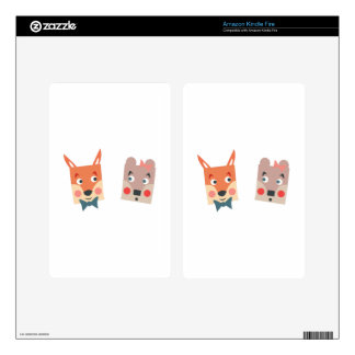 Foxes Kindle Fire Skins