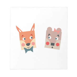 Foxes Memo Note Pads