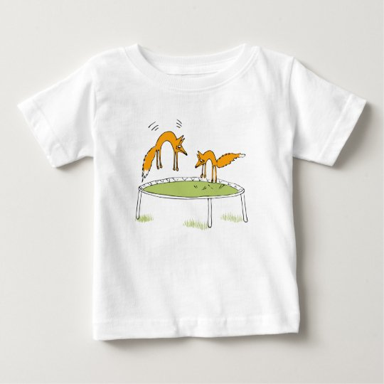 Foxes on Trampoline Baby T-Shirt