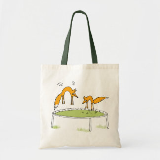 Foxes on Trampoline Bag