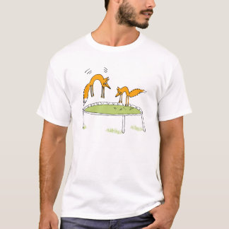 Foxes on Trampoline T-Shirt