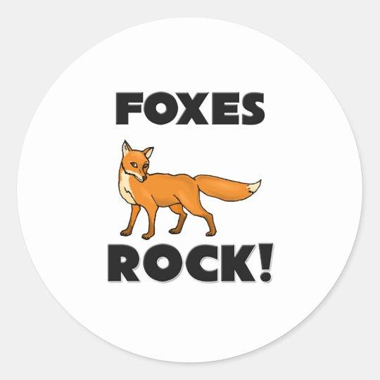 Foxes Rock Classic Round Sticker