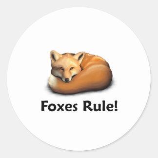 Foxes Rule! Sticker