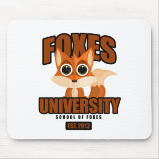 Foxes University Mouse Pad