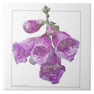 Foxglove - Art Tile