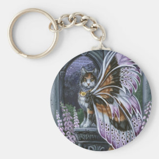 Foxglove Calico Fairy Cat Keychain