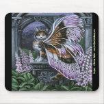 Foxglove Calico Fairy Cat Mousepad