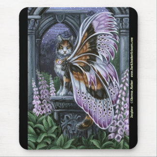Foxglove Calico Fairy Cat Mousepad