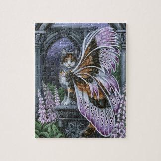 Foxglove Calico Fairy Cat Puzzle
