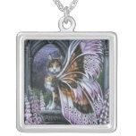 Foxglove Fairy Cat Necklace