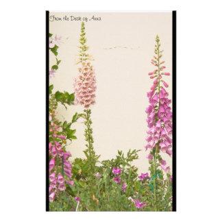 Foxglove Flower Personalized Stationery