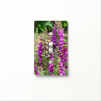 Foxglove Flowers Light Switch Cover