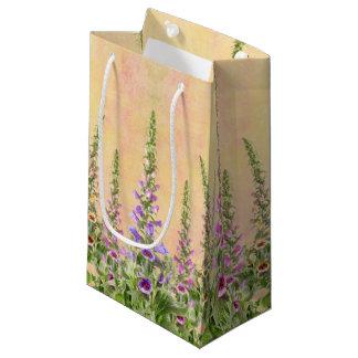 Foxglove flowers small gift bag