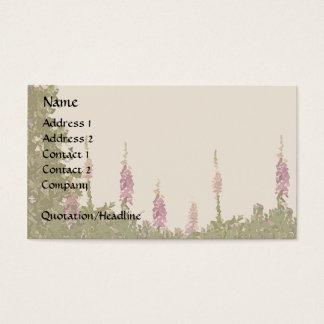 Foxglove Garden Business Card