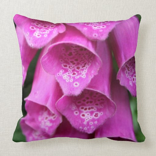 Foxglove Plant Pillow