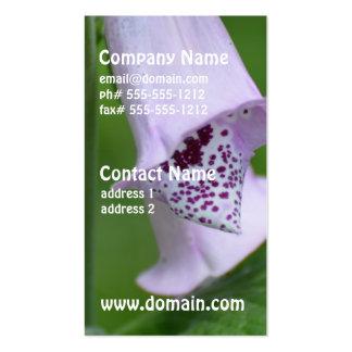 Foxglove purpúreo claro tarjetas de visita