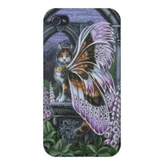 Foxglove Winged Cat iPhone4 Case
