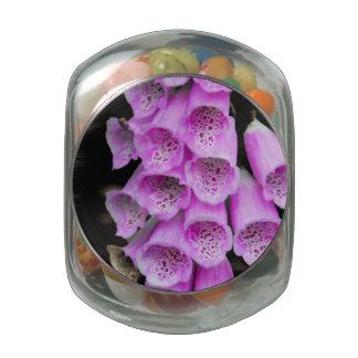 Foxgloves by J O'Reilly Glass Candy Jar