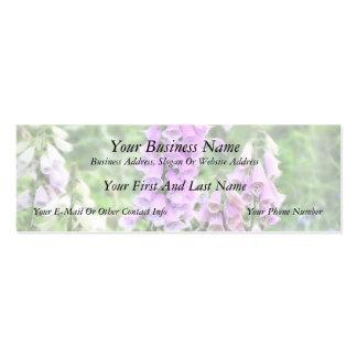Foxgloves del jardín de la cabaña tarjetas de visita mini