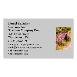 Foxgloves en un paisaje de la carretera nacional tarjetas de visita